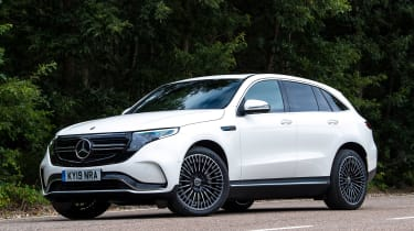 Mercedes EQC SUV front 3/4 static