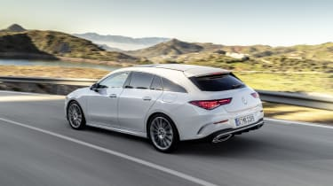 2019 Mercedes CLA Shooting Brake - rear driving