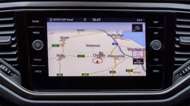 Volkswagen T-Roc SE sat nav screen