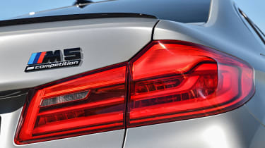 BMW M5 Competition - tail light and badging close-up