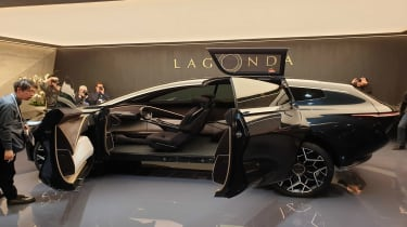 Lagonda All-Terrain SUV concept Geneva side profile doors open