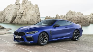BMW M8 Competition coupe - front 3/4 static