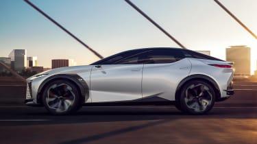 Lexus LF-Z concept - side on view