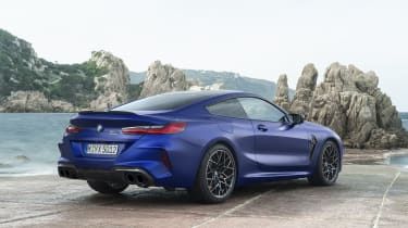 BMW M8 Competition coupe - rear 3/4 static