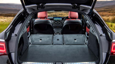 Mercedes GLC Coupe SUV boot seats folded