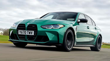 BMW M3 Competition saloon - front 3/4 view