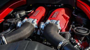 Ferrari Roma coupe engine bay