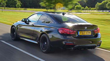 BMW M4 Coupe rear 3/4 tracking