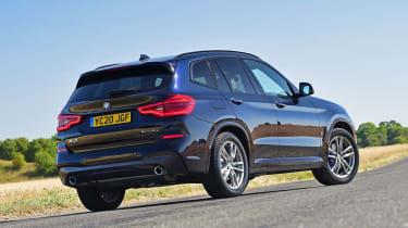 BMW X3 SUV rear 3/4 static