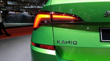 Skoda Kamiq SUV - Geneva - rear close up