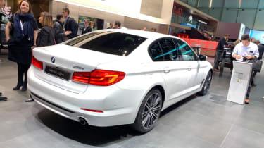 BMW 530e rear static at the 2019 Geneva Motor Show