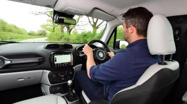 Jeep Renegade interior - man driving