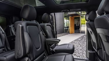 Mercedes EQV - rear seating view