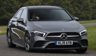 Mercedes A-Class saloon driving