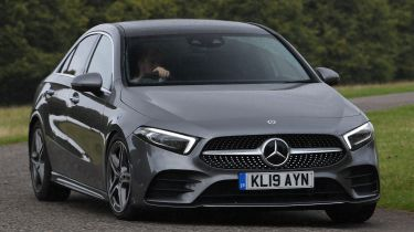 Mercedes A-Class saloon front cornering