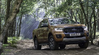 2019 Ford Ranger Wildtrak - front 3/4 static offroad