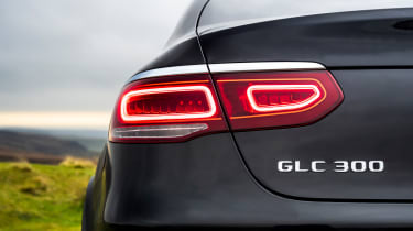 Mercedes GLC Coupe SUV rear lights
