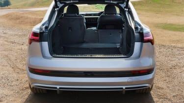 Audi e-tron Sportback SUV boot seats folded