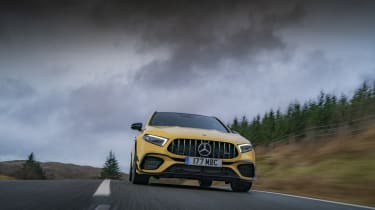 Mercedes-AMG A 45 S hatchback - front low view