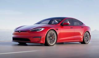 2021 Tesla Model S Plaid - front view