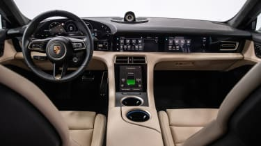 Porsche Taycan Turbo S - Interior wide view
