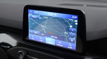 Ford Focus ST hatchback infotainment display