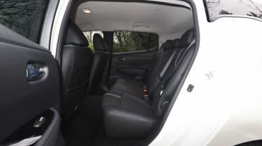 nissan leaf hatchback rear seats