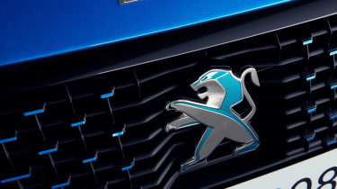Peugeot e-208 badge