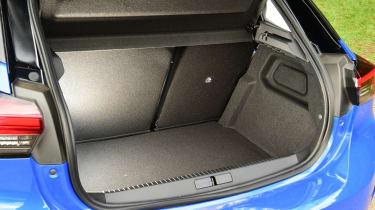 Vauxhall Corsa-e hatchback boot