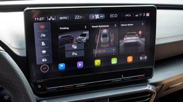 Cupra Formentor SUV review infotainment display
