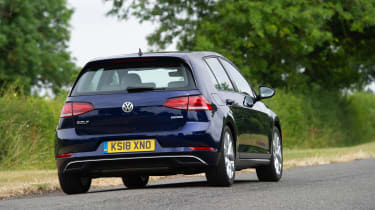 Volkswagen Golf hatchback rear driving