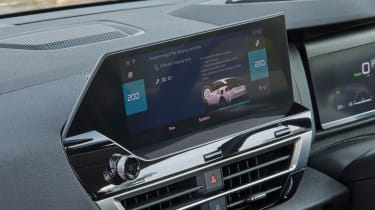 Citroen e-C4 hatchback infotainment display