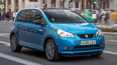 2019 SEAT Mii Electric - Front 3/4 dynamic view