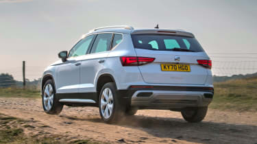 SEAT Ateca SUV rear 3/4 off-road