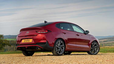 Hyundai i30 Fastback N Line rear 3/4 static