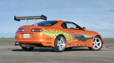 Big wings, big wheels and plenty of nitrous oxide made the Supra suitably brash, loud and fast.
