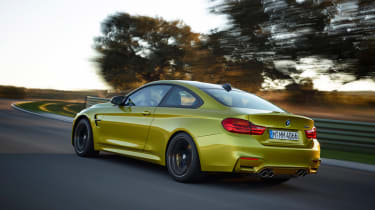 BMW M4 coupe 2014 rear action