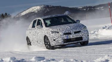 2019 Vauxhall Corsa Prototype winter testing