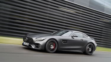 Sitting between the GT S and R, the Mercedes-AMG GT C produces 549bhp