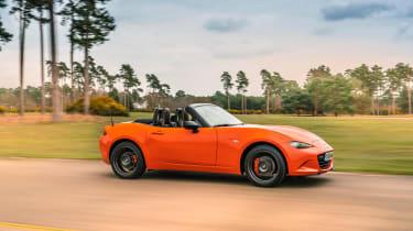 Mazda MX-5 30th Anniversary driving - side view