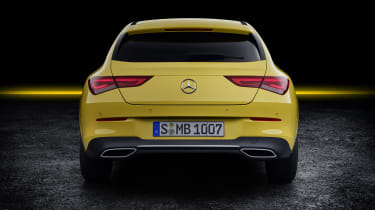 2019 Mercedes CLA Shooting Brake - aerial yellow