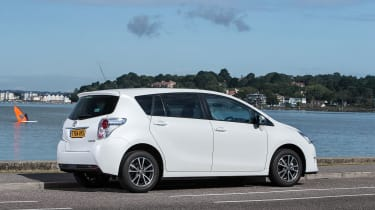 Despite having thick rear quarter panels, visibility in the Toyota Verso is good