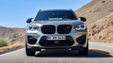 BMW X3 M Competition SUV nose