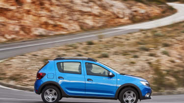 With fairly soft suspension, the Sandero Stepway prioritises ride comfort over sharp handling