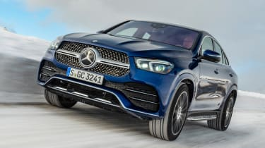 Mercedes GLE Coupe SUV front tracking