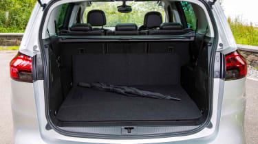 Even with all seats in place, there's a useful boot area