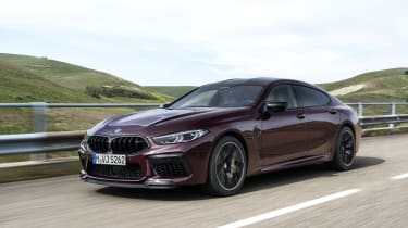BMW M8 Gran Coupe driving