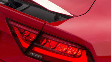 The rear spoiler automatically pops up at speed, giving the RS7 cleaner lines when parked