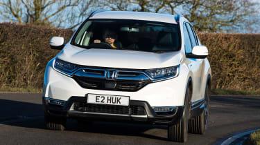 honda cr-v hybrid suv front cornering