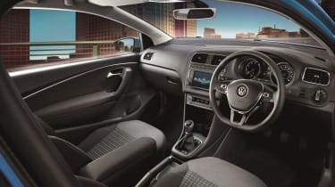 The interior is as upmarket as you'd expect from a Volkswagen